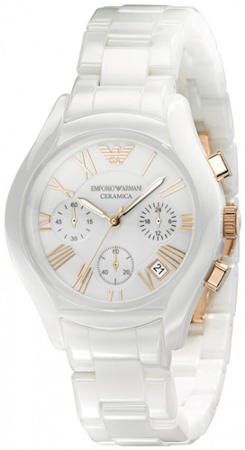 Emporio ARMANI Ceramica White Ceramic Chronograph Watch AR1417